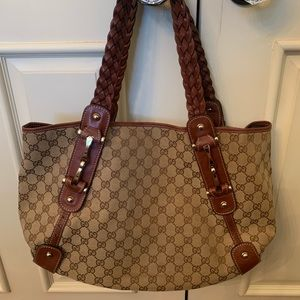 Gucci Horsebit Hobo with braided strap AUTHENTIC